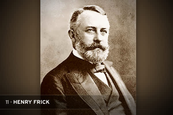 A father of the modern steel industry (along with his business partner, Andrew Carnegie), Frick was a vicious anti-unionist who was once voted the most hated man in America. His response to a strike at one of his steel mills—which began after he attempted to lower wages—resulted in 16 deaths and is regarded as one of the most notorious incidents in U.S. labor history. Afterward, he was shot three times and stabbed twice by an irate activist. He survived and made a full recovery. THE STAT: Under