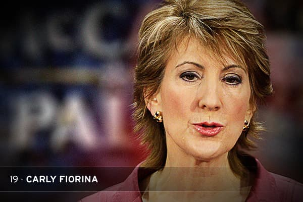 A consummate self-promoter, Fiorina was busy pontificating on the lecture circuit and posing for magazine covers while her company floundered. She paid herself handsome bonuses and perks while laying off thousands of employees to cut costs. The merger Fiorina orchestrated with Compaq in 2002 was widely seen as a failure. She was ousted in 2005.THE STAT: HP stock lost half its value during Fiorina's tenure.