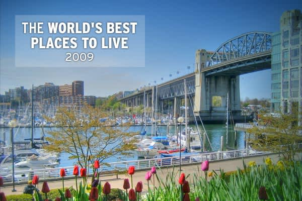 the world s best places to live 2009