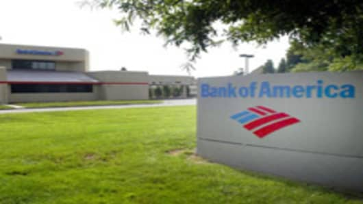 A Bank of America branch.