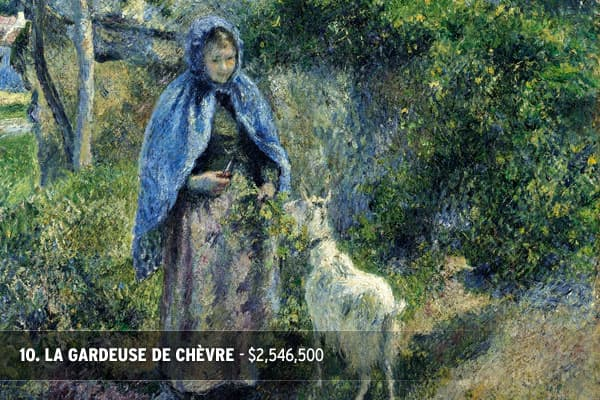 Winning Bid: $2,546,500Estimate: $1,400,000 - $1,800,000Value Sold: 141% of top estimateArtist: Camille Pissarro (1831 - 1903)Painted in 1881Signed C. Pissarro and dated 81 (lower right)Oil on canvasMeasurements32 by 25 3/4 in