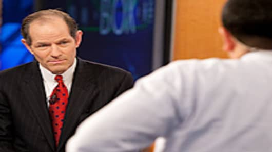 Former New York Governor Eliot Spitzer on Squawk Box.