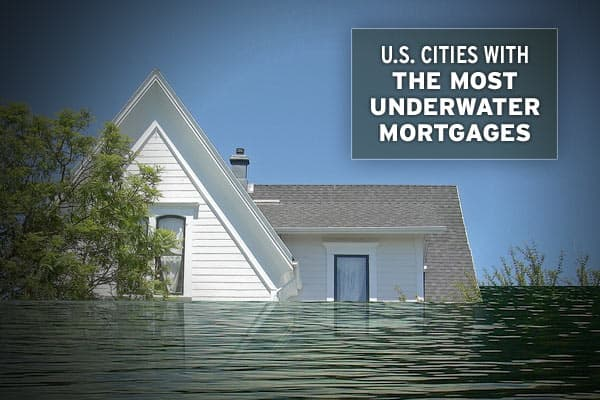 "For individual homeowners, being ""underwater"" on a mortgage – when a home is worth less than outstanding debt, or has ""negative equity"" – is one of the worst positions to be in, short of foreclosure. Zillow.com, a firm that compiles U.S. real estate and mortgage information, has put together a list of the 163 largest U.S. metro areas that includes statistics on median home values, market changes and the proportion of homes with negative equity. Also included is data on short sales, which occur w"