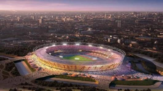 Proposed Olympic Stadium for 2012 Olympic Games, Stratford, east London, England.