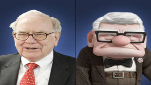 Warren Buffett (left), Carl Fredricksen (right)