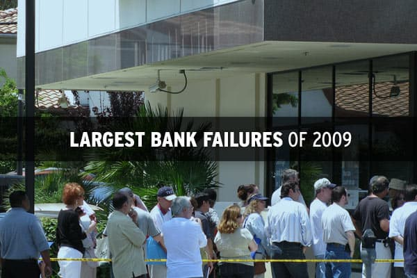Thirty-six banks have failed this year, up from the , which included Washington Mutual, the largest bank failure in US history. While the banks that have closed this year are not as large as WaMu, there have been some substantial banks that failed with assets in the billions. Click on to find out which of them rank as the 10 largest failures so far in 2009.