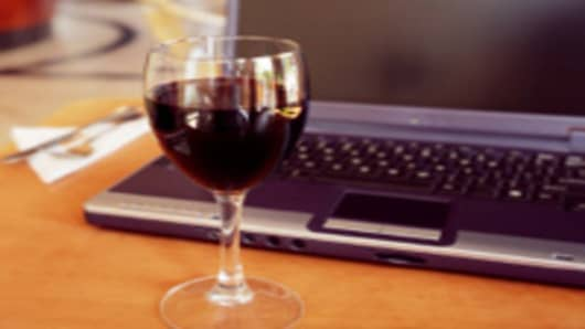 Wine and Laptop