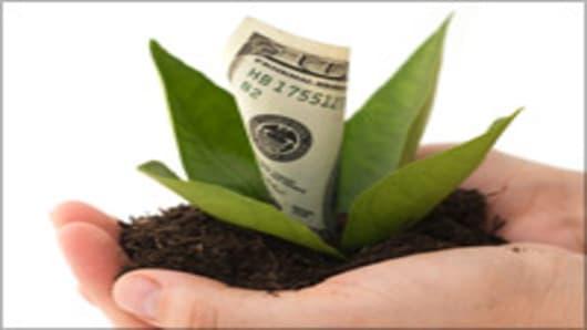 Hand plant money