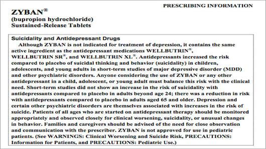 Zyban Prescribing Information