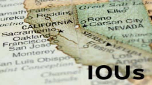 California map with IOU written on it.