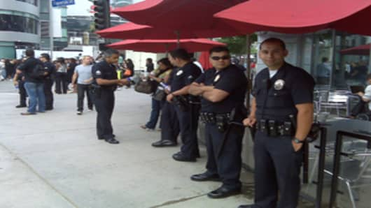 Police at the Staples Center