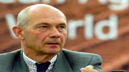 Head of the World Trade Organisation Pascal Lamy delivers his speech Tuesday Oct. 18, 2005 at the European Farmers Congress in Strasbourg, eastern France. The European Union must show flexibility in opening up its agriculture markets to imports, Lamy said. (AP Photo/Christian Lutz)