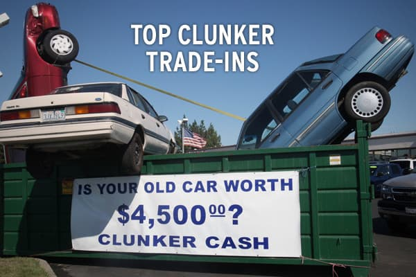 "The Consumer Assistance to Recycle and Save Act (CARS), aka The Cash for Clunkers program, is intended to help U.S. residents get a $3,500 or $4,500 credit toward purchasing a new, more fuel efficient vehicle when trading in a less fuel efficient vehicle. The hugely popular program quickly exhausted it's $1 billion appropriation in less than a week and the Obama administration quickly acted to add an additional $2 billion to keep the program afloat.Although there are several  a ""clunker"" vehicle"