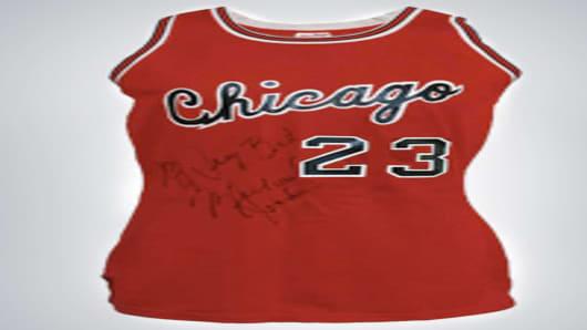 Michael Jordan signed jersey.