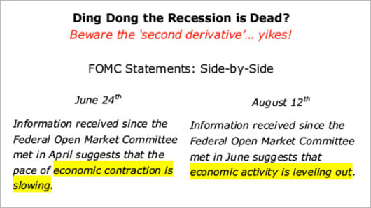 Side-by-side FOMC statement