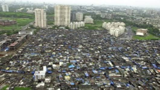 Shantytown, Bombay, India
