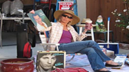 Jane Wells at a garage sale