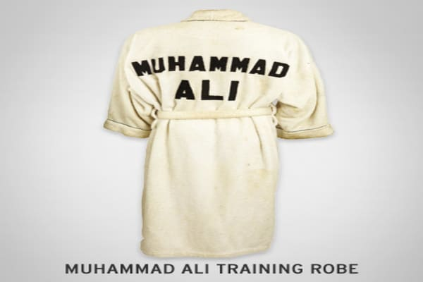 : $1195 It's assumed that this robe was taken from The Four Seasons Hotel, and Ali and had his name sewn to the back.