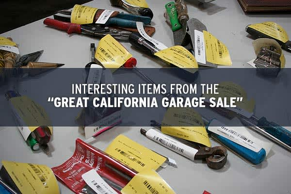 "The ""Great California Garage Sale,"" , is selling surplus items from the state government in order to help close a substantial budget deficit.Items for sale have been deemed non-essential, which raises the question, why did California have some of them in the first place? This includes more than 500 vehicles, a range of confiscated items and other unlikely objects you wouldn't expect to be in government hands.Click ahead to see some of the items in this unique garage sale!"