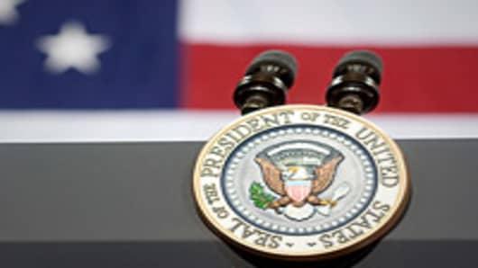 Presidential speech pedistal