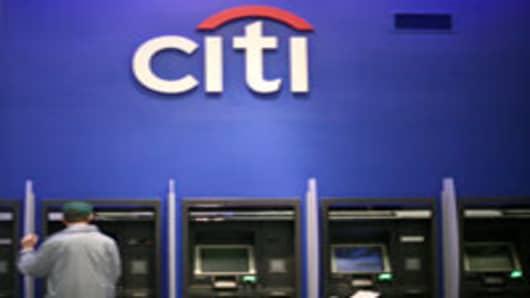 A Citibank ATM user.