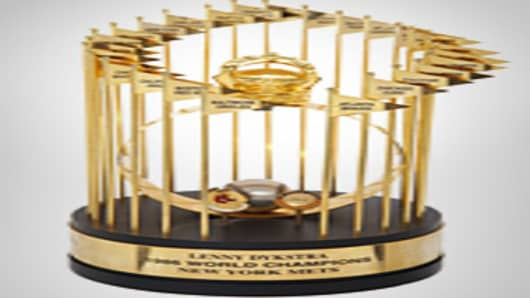 1986 Lenny Dykstra New York Mets World Championship Trophy