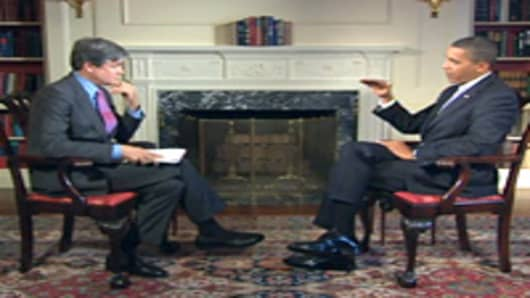 President Barack Obama interviewed by CNBC's John Harwood