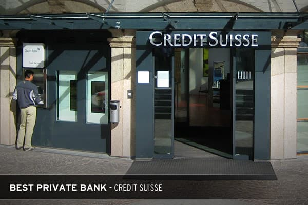 Credit Suisse - Zurich, SwitzerlandPrivate banks offer financial services such as investments to private individuals investing sizable assets. This is different from retail banking as business is conducted on a personal, not mass-market level. According to Global Finance, the world's best private bank is Zurich-based Credit Suisse.