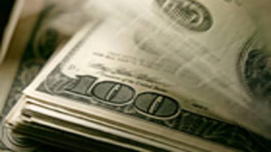 Stack of U.S. hundred-dollar bills