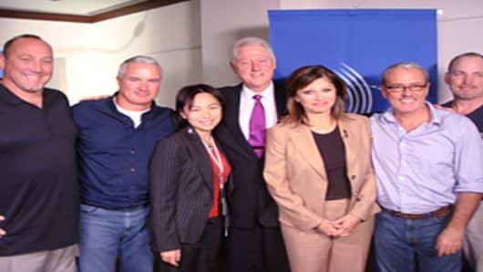 Bill Clinton, Maria Bartiromo and CNBC Team
