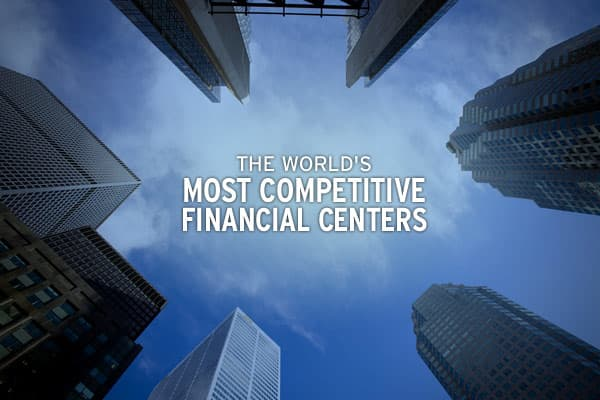 Recently released, the Global Financial Centres Index, which was created by  for the city of London, ranks 75 major financial centers in terms of their competitiveness on a global scale.Important factors to gauge a center's competitiveness include people, business environment, infrastructure, market access and general competitiveness, which includes measures such as occupancy costs, tax information and exchange agreements, for a total of 64 instrumental factors.So what are the most competitive g