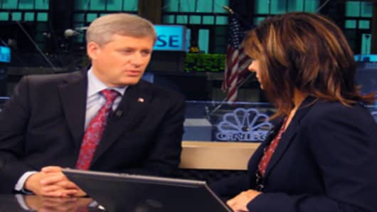 Maria with Canada's Prime Minister Stephen Harper