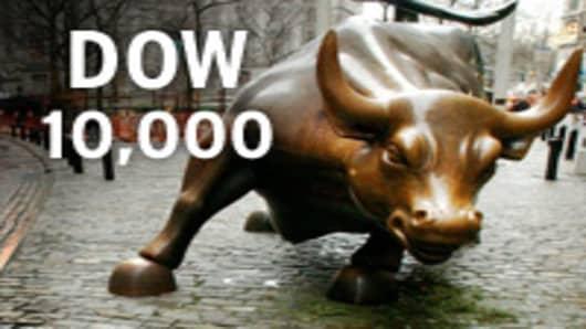 Dow reaches 10,000