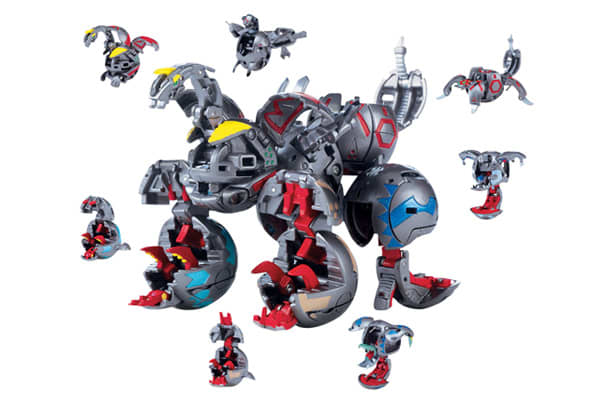 Company: Spin MasterRetail Price: $40.00This line of the popular brand can be separated into seven different Bakugan marbles, or joined together to create one united force. (Ages 5 years and up)