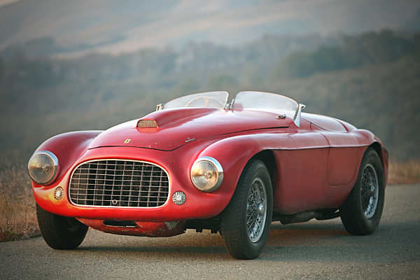 """This 1949 Barchetta has """"landmark design, it's the classic early Ferrari, and must be red.""""Estimated Value: $5,000,000Units Built: 25"""