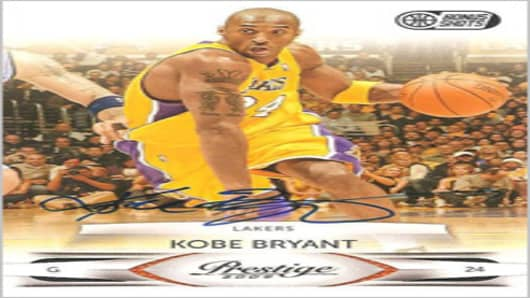 Kobe Bryant autographed card