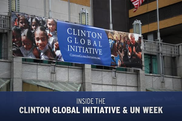 The Clinton Global Initiative, taking place at the­ Sheraton New York between Sept 22 - 25 2009, Maria Bartiromo was on the scene with exclusive interviews and pressing questions for global leaders and economic trailblazers. Click ahead to see behind the scenes photos from the event!Posted 30 Sept 2009
