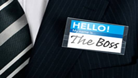 """The Boss"" nametag"