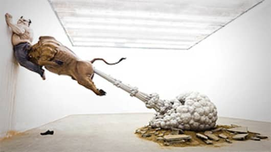 Chen Wenling bull sculpture