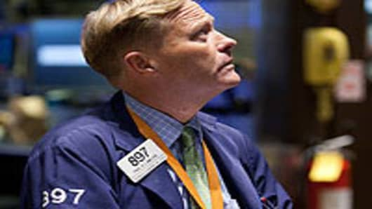 A trader at the New York Stock Exchange.