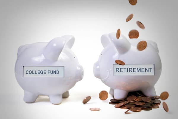 """If you don't have enough to save for your children's college funds and your retirement, then your retirement takes precedence. As explained in Suze's book """","""" women think they are actually helping their children by paying for their college or wedding. It's a myth. You help your children by saving yourself first. If you retire without ample money to support yourself you will become a financial burden to your children. There are plenty of loans for college but there are no loans for retirement."""