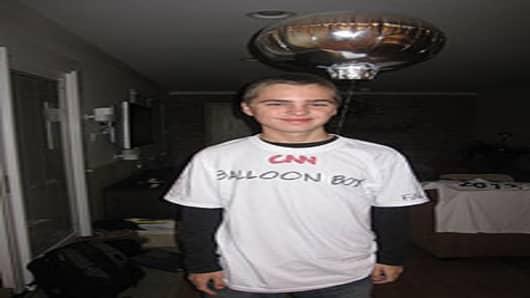 Calvin's Balloon Boy costume