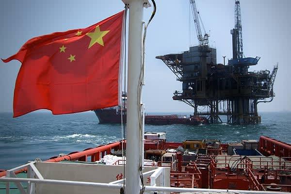 Proved Oil Reserves: 16 billion barrelsTotal Oil Production: 3.97 million barrelsCrude Oil Production: 3.79 million barrelsConsumption: 7.57 million barrelsExports to US (2007): 13,000 barrelsPictured: Off shore oil in China
