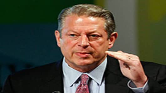Former Vice President Al Gore speaks during the National Clean Energy Summit 2.0 at the Cox Pavilion at UNLV August 10, 2009 in Las Vegas, Nevada.