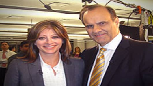Maria with Joe Torre