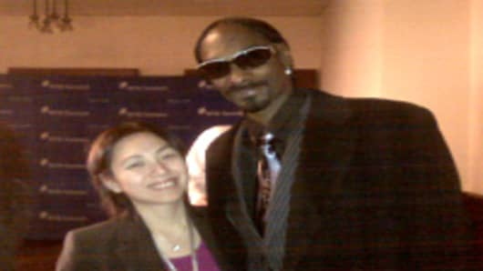 Lulu Chiang and Snoop Dogg