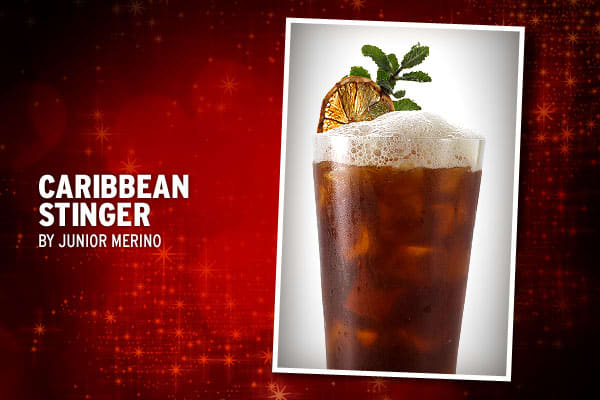 """Merino taps into his heritage with this cocktail. """"My family makes a Ponche Navideno (Christmas Punch) which usually consists of rum, spices, Mexican local fruits such as nanches, tejocotes, cana and Mexican canela as well as panela (jaggery sugar) and juices,"""" he said. The mixture, which is left to macerate overnight, can also be made with tequila. In Merino's take on the traditional punch, the bitterness of the beer contrasts with the complex notes from the honey.1 1/2 oz Chairman's Reserve Ru"""