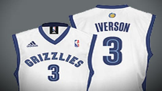 Iverson's Grizzlies Jersey