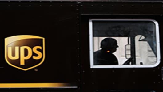 UPS truck & driver