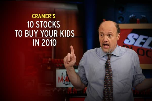 There's nothing more gratifying than seeing your child's face light up when you give them the perfect present for the holidays. Oh wait, yes there is: Seeing them succeed throughout their whole life! And guess how you make that happen? You teach your kids about money and investing as young as possible, Cramer says. The earlier you start, the better off they will be. So, this year, instead of buying your kid the hottest toy that's going to make her friends drool, consider giving the gift that cou